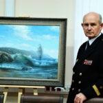 Председатель ДПФ поздравил российского художника-мариниста Павла Бойко с 75-летием!